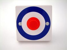 Quadrophenia Style Light Switch - Made in the UK Cupboard Knobs, Light Switch Covers, Bedroom Themes, Chicago Cubs Logo, Light Decorations, About Uk, Interesting Stuff, Logos, Children