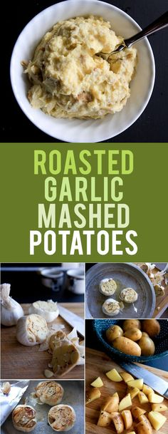 """Roasted Garlic Mashed Potatoes: dreamy, creamy, and incredibly flavorful. You'll never go back to """"regular"""" potatoes again!"""