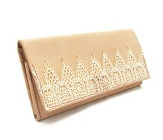 Lace and Leather clutch