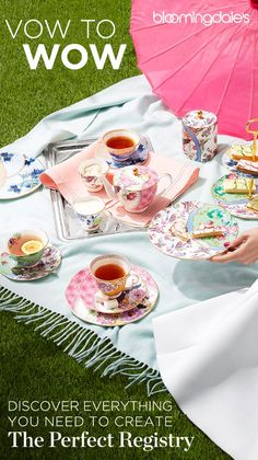 Starting your life together and building a place you both call home is an amazing experience, and we can't wait to help you. From something old to something new, Bloomingdale's Little Registry Guide is brimming with inspiration and essentials - like this Wedgwood Butterfly Bloom Tea set - to take you down the aisle. Find or create your own registry at Bloomingdale's today.