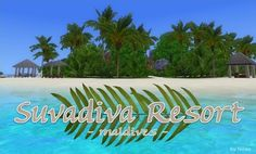 Hi! This is my latest creation, Suvadiva Resort: ... - Nilxis You Are The World, You And I, The Sims, Sims 3 Worlds, Pool Bar, Water Activities, Beautiful World, Paths, Paradise