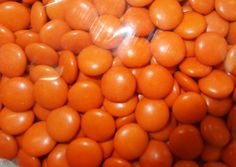 Choc Drops - Orange Single Colour Smarties clones, by Confectionery House,  and more Confectionery at The Professors Online Lolly Shop. (Image Number :4493)