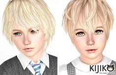 Korat and Burmese Hairs for Kids by Kijiko - Sims 3 Downloads CC Caboodle