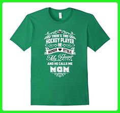 Mens This Hockey Player calls me mom T-Shirt 2XL Kelly Green - Relatives and family shirts (*Amazon Partner-Link)
