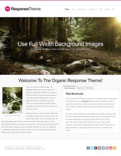 'Response' responsive WordPress theme, geoptimaliseerd voor retina schermen. Rustigere homepage, met info overzichtelijk in tabs ondergebracht. Veel extra opties. $69. Demo & download: http://organicthemes.com/demo/response/