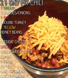21 Day Fix Recipe - Fix Chili