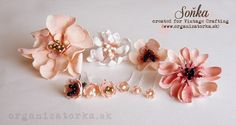 Dekoračné kvety z foamiranu / Decorative foamiran flowers