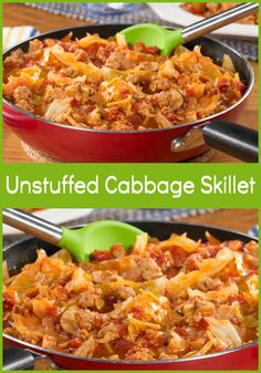 That's when this one-skillet recipe for Unstuffed Cabbage Skillet comes in handy. You get all the flavors you love in an easy-to-make and easier-to-clean way!