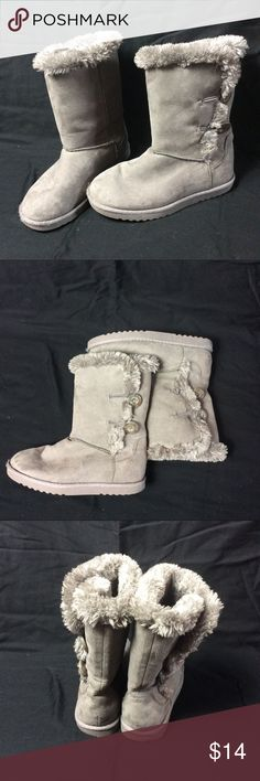 Girls Faux Fur Boots Size 2 Girls Faux Fur Boots Size 2 Shoes Boots