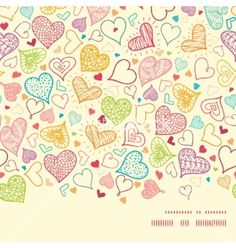 Doodle hearts heart silhouette pattern frame vector by Oksancia on VectorStock®