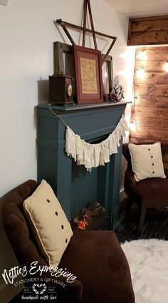 Makeover To The Original Faux Fireplace | Netties Expressions