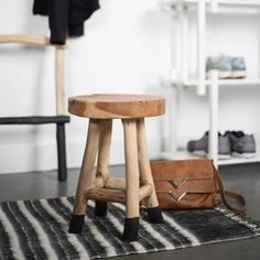 Footstool or living accessory, Harry Stool is rustic but Sturdy. Teak Wood, simple but impressive presence in any room. Teak Wood, My Room, Decoration, Ladder, Bar Stools, Furniture, Home Decor, Sweet Dreams, Ethnic
