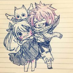 Fairy tail natsu Lucy and happy
