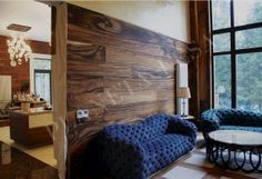 Декоративные панели из экзотических пород дерева
