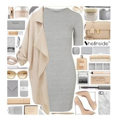 """""""Shein Loose Pockets Coat"""" by xgracieeee ❤ liked on Polyvore featuring Topshop, Elie Saab, Byredo, Trish McEvoy, Clinique, Barry M, The Body Shop, Chanel, COSTUME NATIONAL and Yves Saint Laurent"""