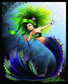Rock Mermaid by QuixoticWhimsy