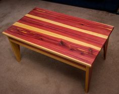 Red Cedar Coffee Table Modern Rustic Mountain Lodge Log Cabin Elegant Home  Decor Furniture Country Style Living By