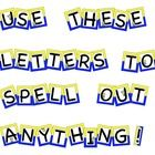This file includes all 26 capital letters with a blue and yellow background and minion guys and girls placed on the vowels.  I have also included p...