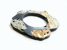 Yiota Vogli - PAPER JEWELRY! Layers of Memory 2015 - 2015 Jewelry Collection. silver, oxidized, paper - Bracelet, paper, oxidized silver, brass, argentum www.yiotavogli.com