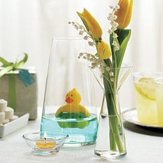 Great baby shower idea. Can be a flower vase, candle holder or rubber ducky pond! :o)