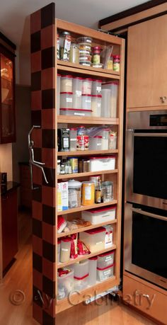 Pull Out Pantry May Be A Great Solution For My New Small Kitchen