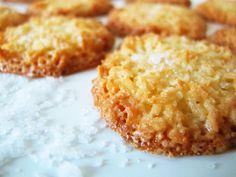 Crisp Coconut Cookies with fleur de sel