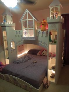 Princess Bedrooms For Girls: Do It Yourself Home Projects From Princess Bedrooms, Princess Room, Princess Castle, Pink Castle, Childrens Beds, Daughters Room, Little Girl Rooms, Kid Spaces, Kid Beds