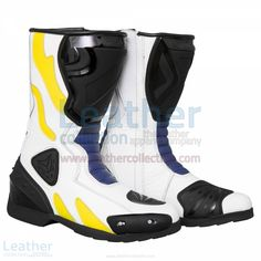 Chris Vermeulen Rizla Suzuki Race Boots  https://www.leathercollection.com/en-we/chris-vermeulen-rizla-suzuki-race-boots.html  ##Chris_Vermeulen, ##Race_Boots, ##Suzuki_Boots