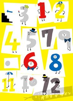 Numbers For Kids, Kids Poster, Creative Inspiration, Illustrators, Design Art, Illustration Art, Banner, Typography, Kids Rugs