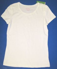 LILLY PULITZER Small Resort White KARRIE Stretch Knit Tee Top NWT NEW SM S #LillyPulitzer #KnitTop #Casual