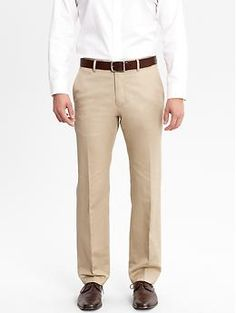 Khaki slacks are the perfect color for summer & wear comfortable too
