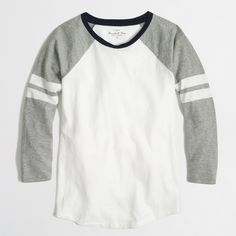 J.crew factory baseball T-Shirt in grey and other choice in navy.