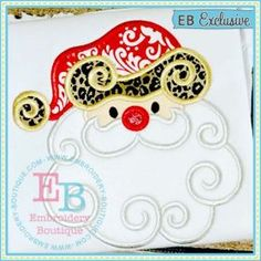 Swirly Santa Applique