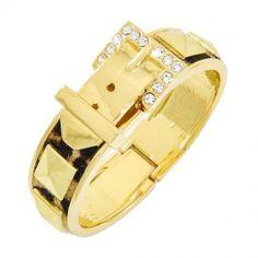 Brown Leopard Fur Belt bracelet #bracelets #fashion #jewelry  9thelm.com