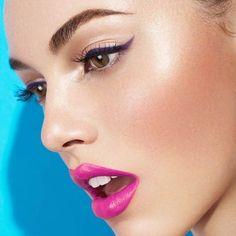 Purple eyeliner Makeup Goals, Love Makeup, Makeup Tips, Beauty Makeup, Purple Eyeliner, Makeup Portfolio, Make Up Art, Makeup Routine, Makeup Videos