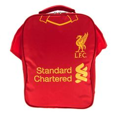 25ceea9a61e Liverpool F C - shirt shape lunch bag - with name tag - approx x x - with a  swing tag - official licensed