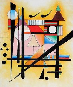Shop for Wassily Kandinsky 'Untitled' Oil Painting on Canvas. Get free delivery On EVERYTHING* Overstock - Your Online Art Gallery Store! Kandinsky Art, Wassily Kandinsky Paintings, Chagall Paintings, Art Paintings, Kandinsky Prints, Abstract Painters, Abstract Art, Abstract Landscape, Art Plastique