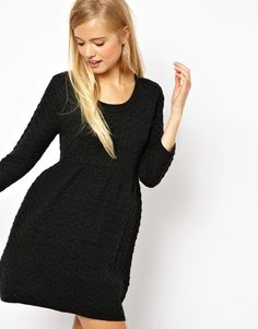 Asos Green Knitted Smock Dress