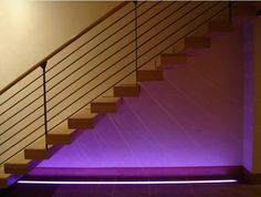 The most impressive thing about LEDs is that they offer a great choice of color. LED light fittings are usually sold as a single color, so you are bound to find something to suit and compliment your room's color scheme. Use a splash of color wash to make a feature of an area of your home, like a stairwell, which might be a little dull otherwise.