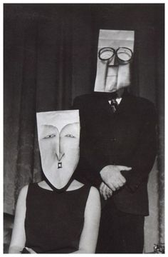 Masquerade - A collaboration between the artist Saul Steinberg and the photographer Inge Morath, takenin the late 1950s and early 1960s  ViaLe Clown Lyrique  Previously