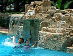 37426-110_web | pool waterfall, backyard and swimming pools
