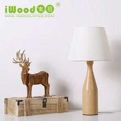 2016 wood material Table lamp home decorative table lamp