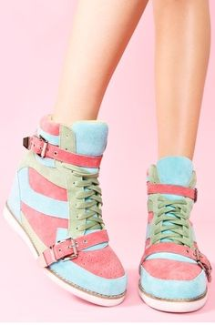 Ice cream-color high-top casual shoes❤