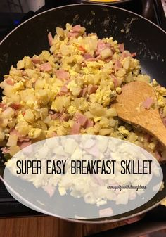 Super easy and fast breakfast skillet. Great for any time of the day. Fast and easy breakfast for dinner.