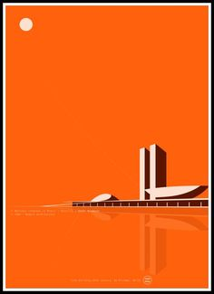 Your marketplace to buy and sell handmade items.- National Congress of Brazil. Oscar Niemeyer 50 x - Trend Heilige Architektur 2019 Oscar Niemeyer, Architecture Graphics, Architecture Drawings, Architecture Old, Victorian Architecture, Plakat Design, Selling Handmade Items, Design Poster, Illustrator
