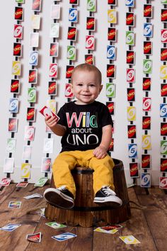 UNO themed first birthday photo. #uno #1stbirthday #photo