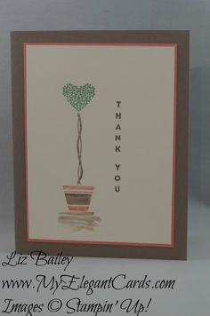 Vertical Greetings - Pootles Colour Challenge PCC012 - CAS - My Elegant Cards - Liz Bailey - Independent Stampin' Up! Demonstrator