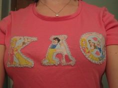 DIY Greek Sorority Lettered Shirt in 10 quick steps