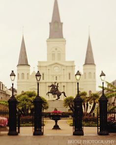New Orleans Art, St. Louis Cathedral Photography, Wall Art, Looking Through Jackson Square Photo. French Quarter Print. Mardi Gras. by Briole on Etsy https://www.etsy.com/listing/128836507/new-orleans-art-st-louis-cathedral