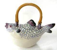 Animals Co Tropical Fish Teapot Vintage Figural 1984